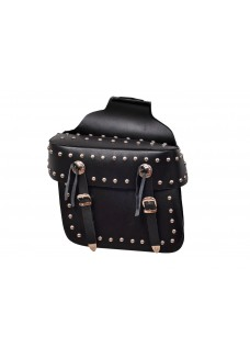 Studded Concho Saddle Bag