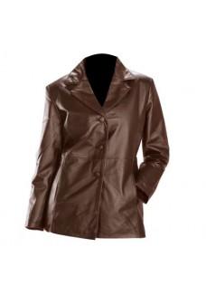 Choco-Brown Womens Fashion Leather Blazer