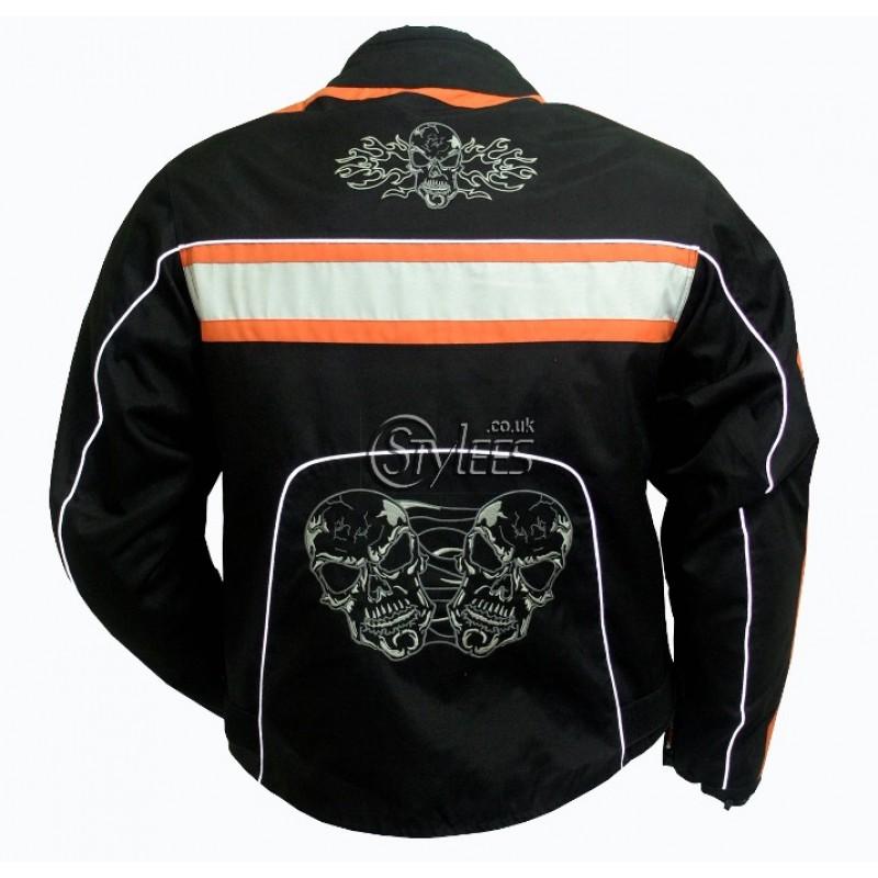 Skull Textile Motorcycle Jacket