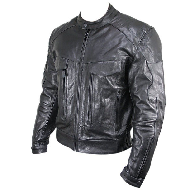 Cowhide Leather Motorcycle Jacket 02