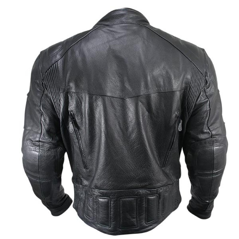Cowhide Leather Motorcycle Jacket 03