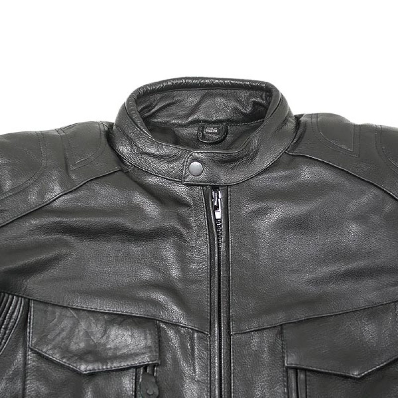 Cowhide Leather Motorcycle Jacket 05