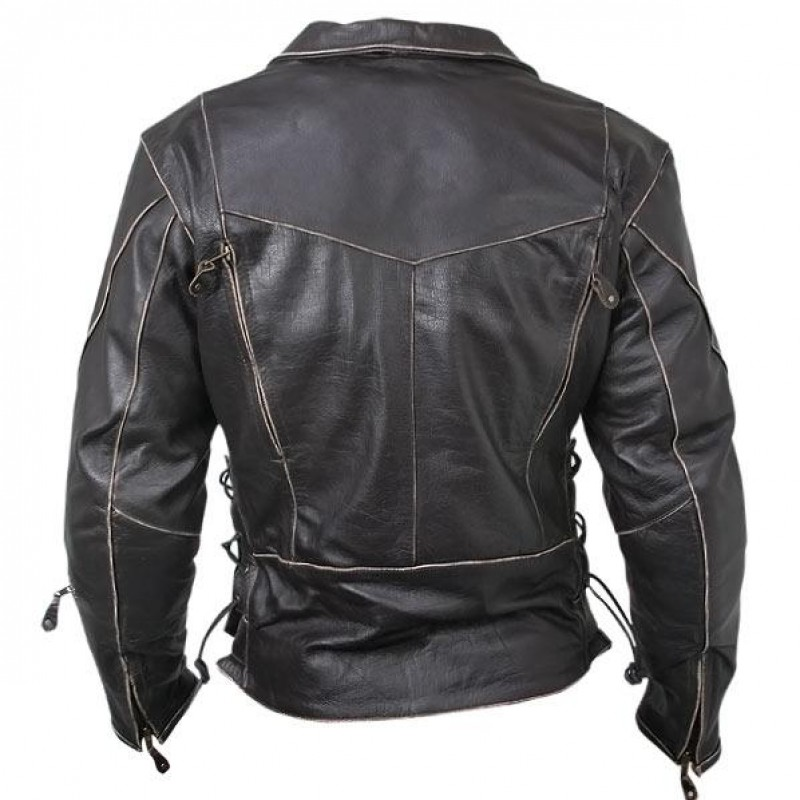 Antique Brown Motorcycle Jacket