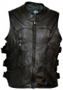 Premium Leather Motorcycle Vest