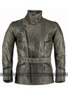 3/4 Distressed Eddie Mens Motorcycle Long Vintage Leather Jacket