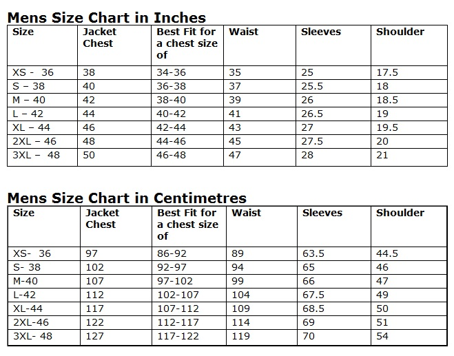 Use this table for men's suits, jackets and coats to convert between American, English, European, Russian, Japanese and Korean sizes. The European size covers among others Italian, French, Spanish, German, Swedish, Dutch and Portuguese clothing. The UK size is same as the Australian.